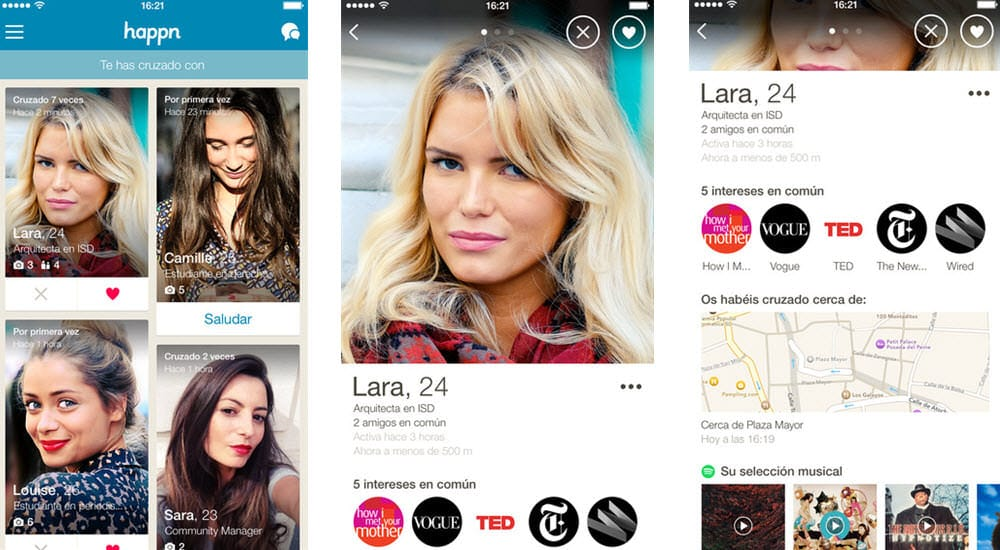 mejor app para ligar online happn