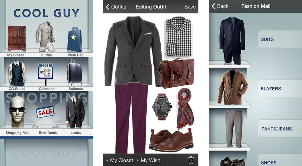 mejores aplicaciones belleza cool guy fashion closet and style shopping app for men