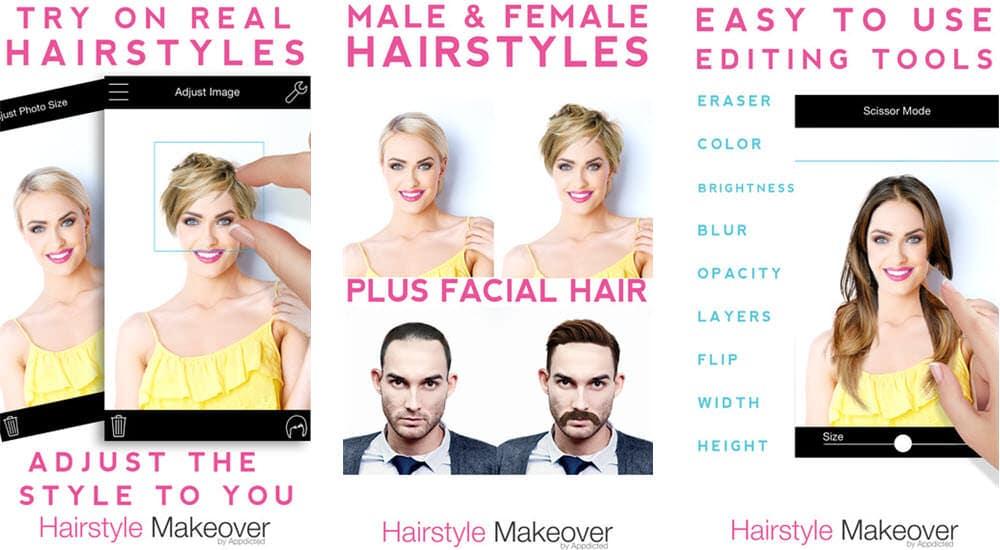 mejores aplicaciones gratuitas belleza hairstyle makeover