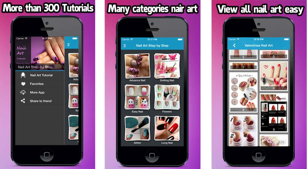 mejores aplicaciones gratuitas belleza nail art tutorials