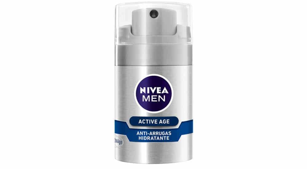mejores cremas antiarrugas hombre active age nivea men