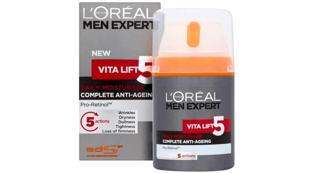 mejores cremas antiarrugas hombre men expert vita lift loreal