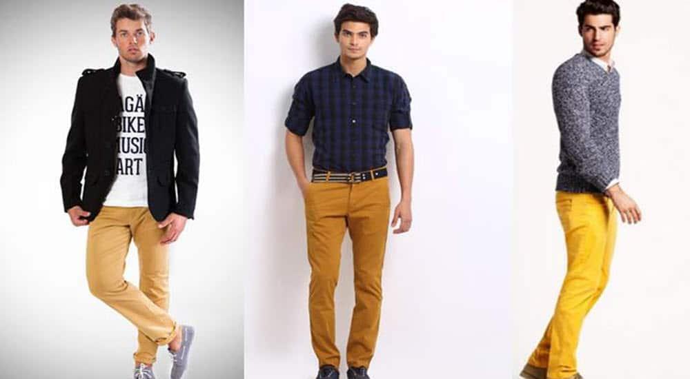 prendas hombre imprescindibles invierno pantalon mostaza