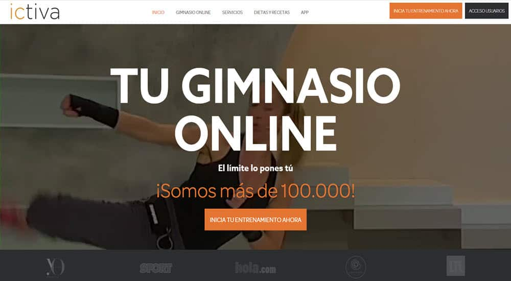 mejor gimnasio online para hacer ejercicio en casa ictiva