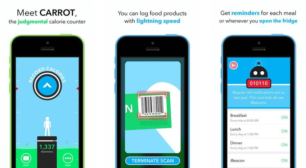 mejores aplicaciones gratis para adelgazar carrot hunger talking calorie counter