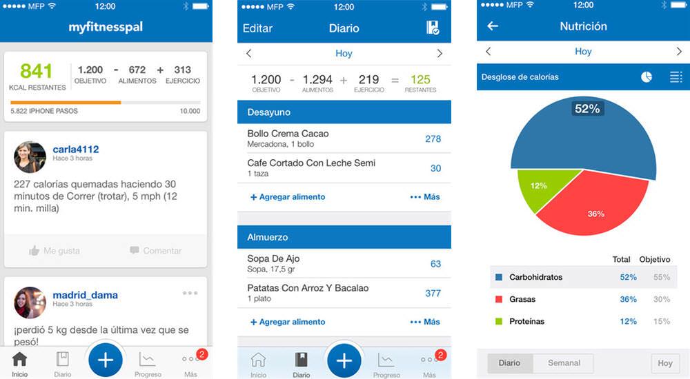 mejores aplicaciones gratis para adelgazar contador de calorias myfitnesspal