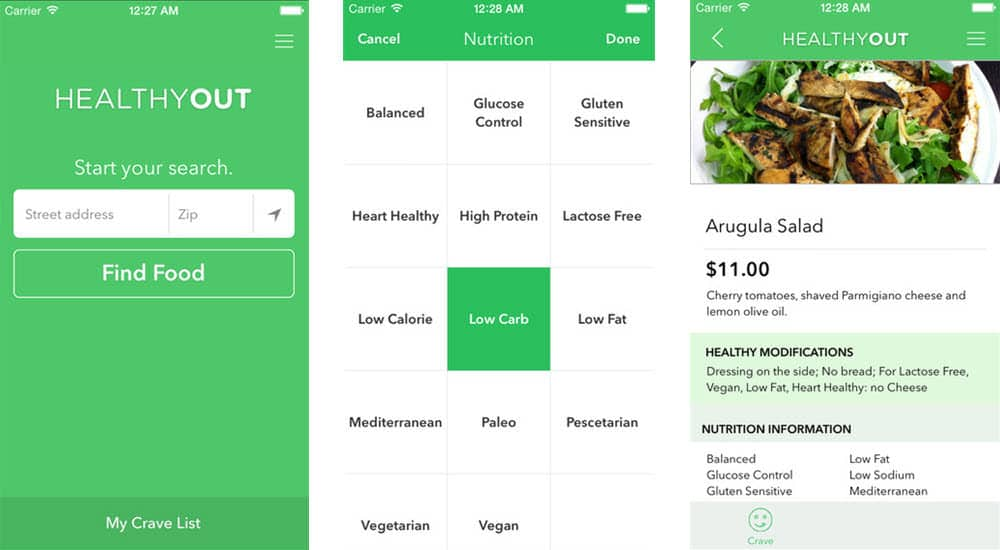 mejores aplicaciones gratis para adelgazar healthyout healthy restaurant nutrition guide