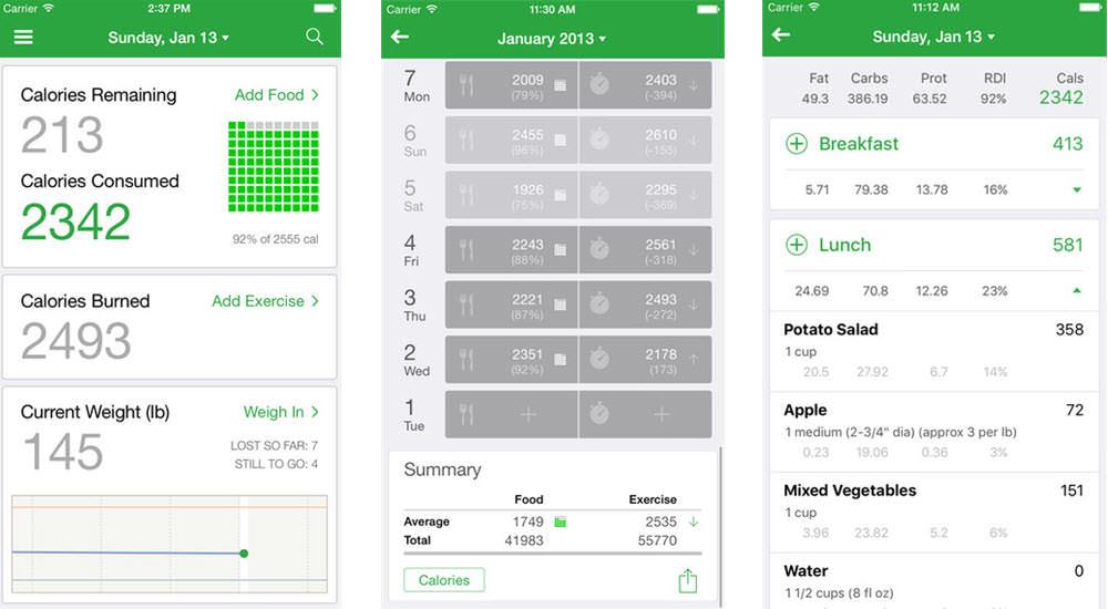 mejores aplicaciones gratis para perder peso contador de calorias fatsecret