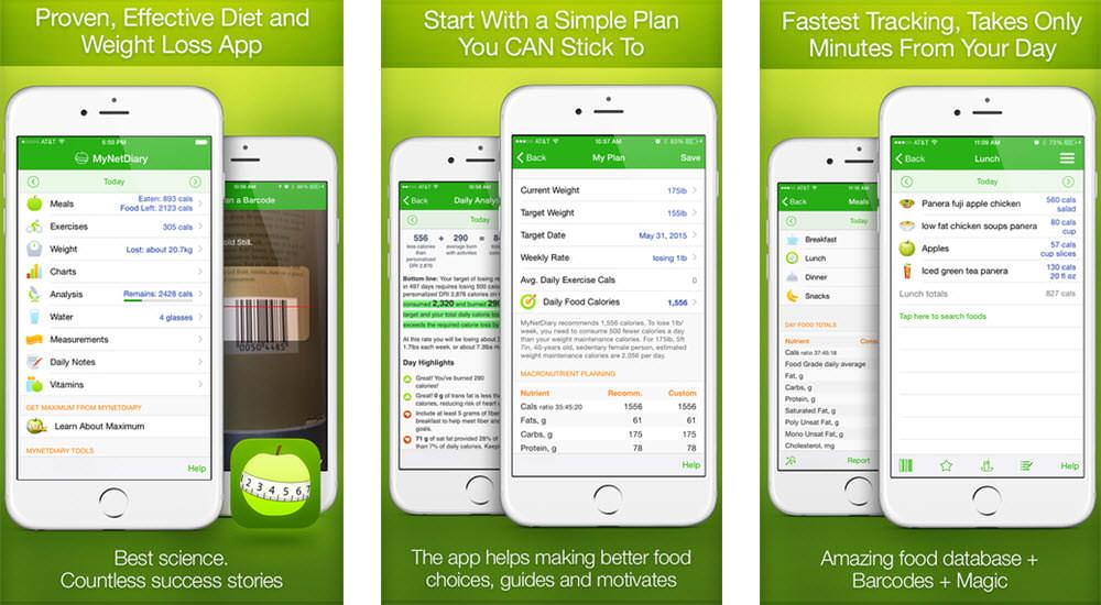 mejores aplicaciones gratis para perder peso mynetdiary