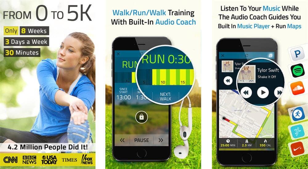 mejores aplicaciones para hacer ejercicio 5k runner fitness22