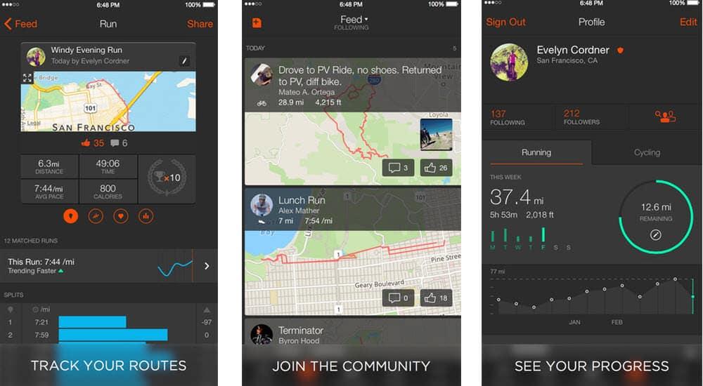 mejores aplicaciones para hacer ejercicio strava running and cycling gps tracker