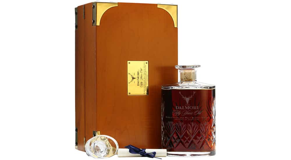 mejores marcas whisky mas caras mundo dalmore decanter 50 años