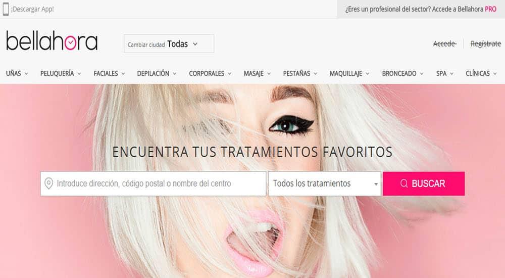 mejores paginas reservar online centro belleza tratamiento belleza bellahora