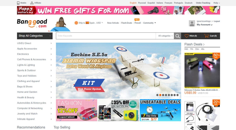 mejores tiendas chinas online comprar barato banggood