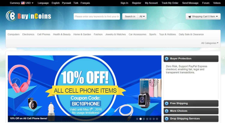 mejores tiendas chinas online comprar barato buyincoins