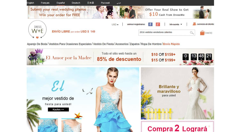 mejores tiendas chinas online comprar barato dresswe