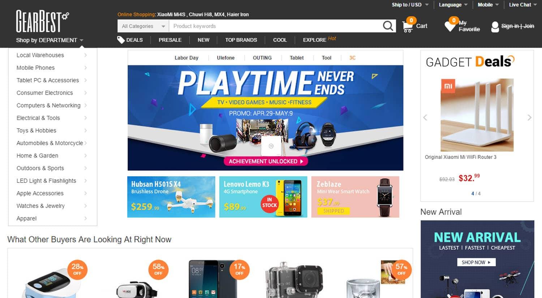mejores tiendas chinas online comprar barato gearbest