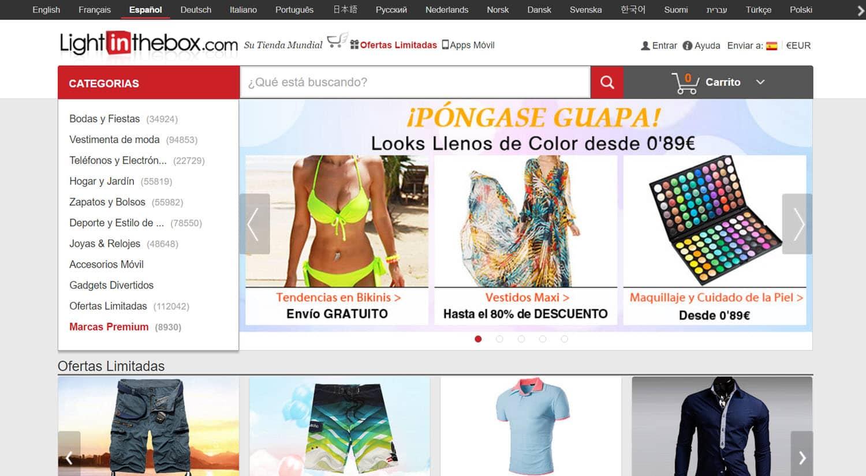 mejores tiendas chinas online comprar barato lightinthebox