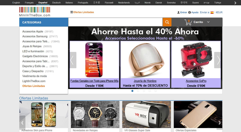mejores tiendas chinas online comprar barato miniinthebox