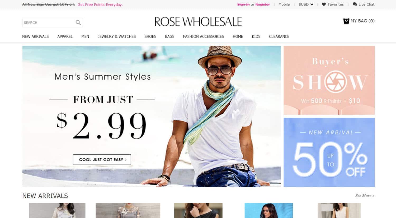mejores tiendas chinas online comprar barato rosewholesale