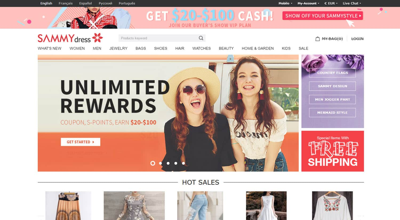 mejores tiendas chinas online comprar barato sammydress