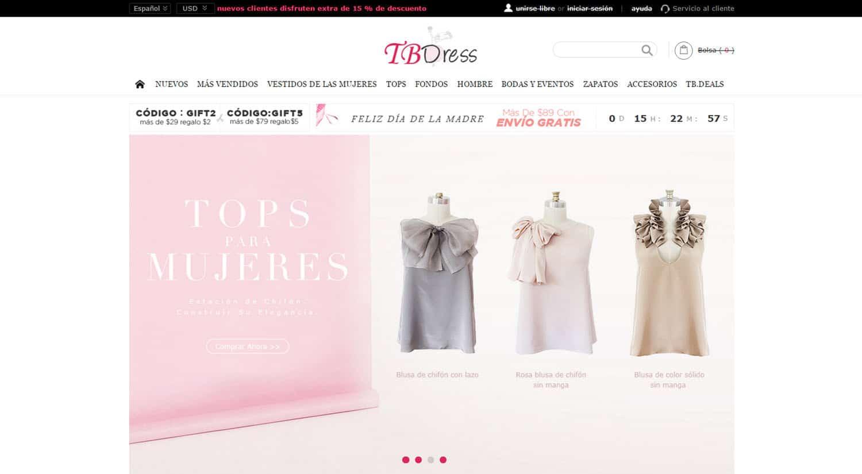 mejores tiendas chinas online comprar barato tbdress