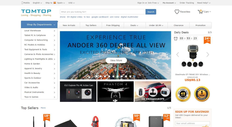 mejores tiendas chinas online comprar barato tomtop