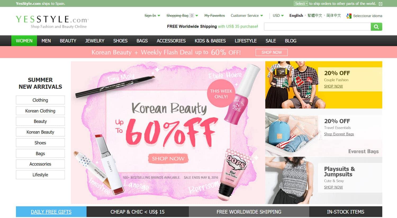 mejores tiendas chinas online comprar barato yesstyle