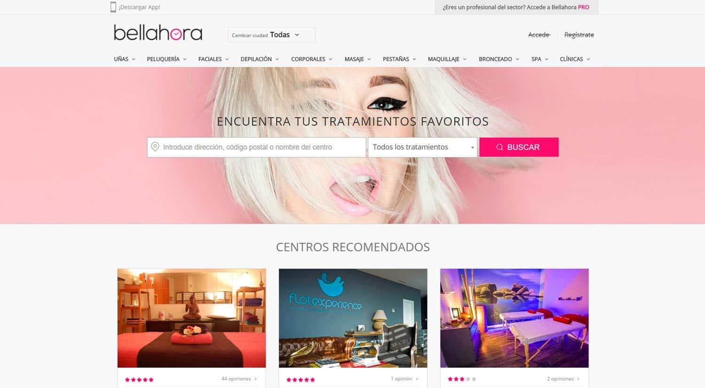 reservar online centro belleza bellahora