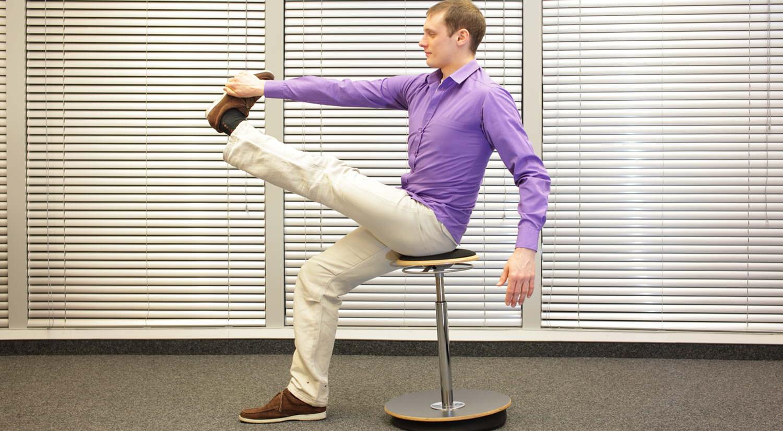 consejos hacer ejercicio trabajo subir bajar pierna