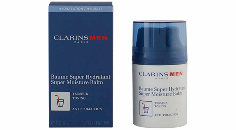 mejor crema hidratante hombre baume super hydratant clarinsmen