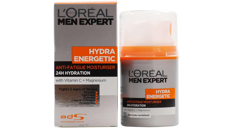 mejor crema hidratante hombre hydra energetic moisturiser l'oreal men expert