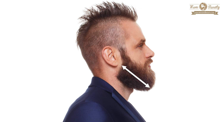 Corte pelo cara rectangular hombre