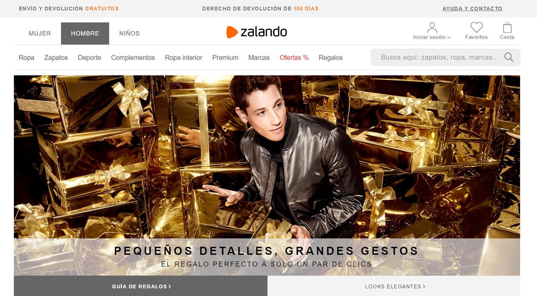 mejores tiendas online para comprar productos para hombres zalando
