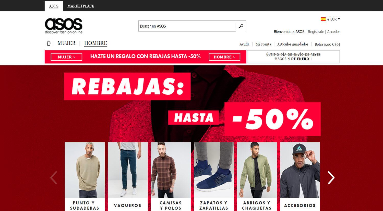 mejores tiendas para comprar online productos para hombres asos
