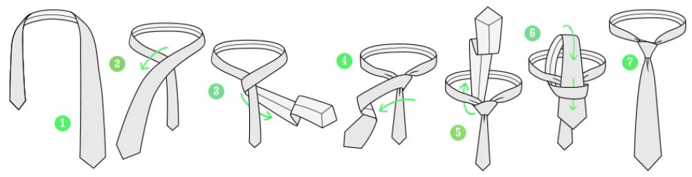 10 nudos de corbata elegantes f ciles y r pidos paso a paso for Nudo de corbata windsor