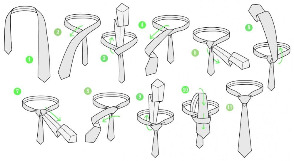 guia visual estilo hombre como atar corbata nudo windsor