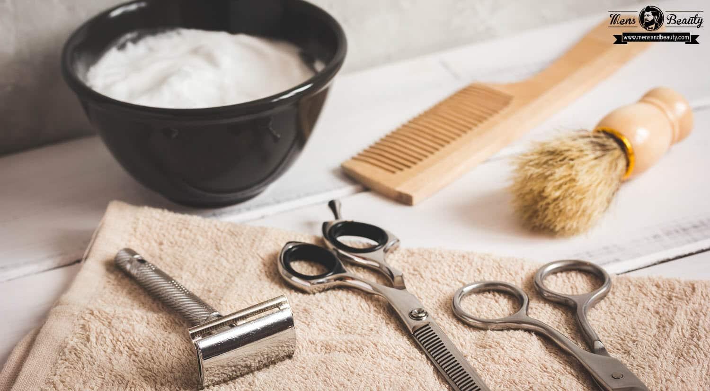 como recortar barba herramientas