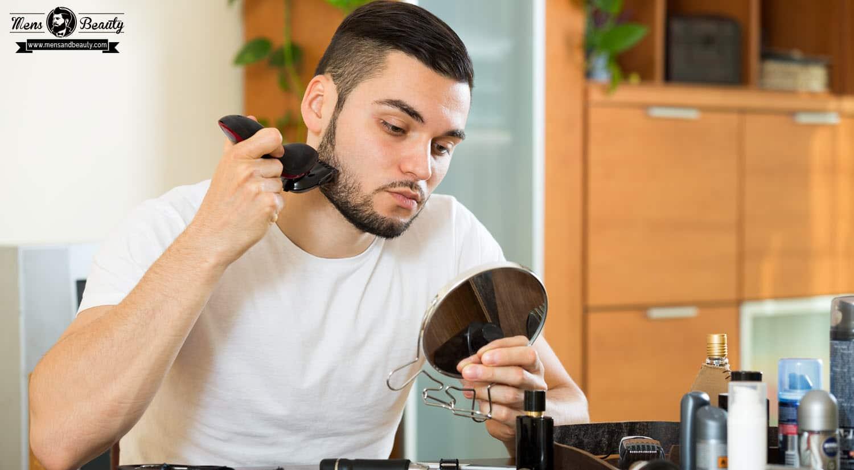 como recortar barba recorta longitud deseada patillas