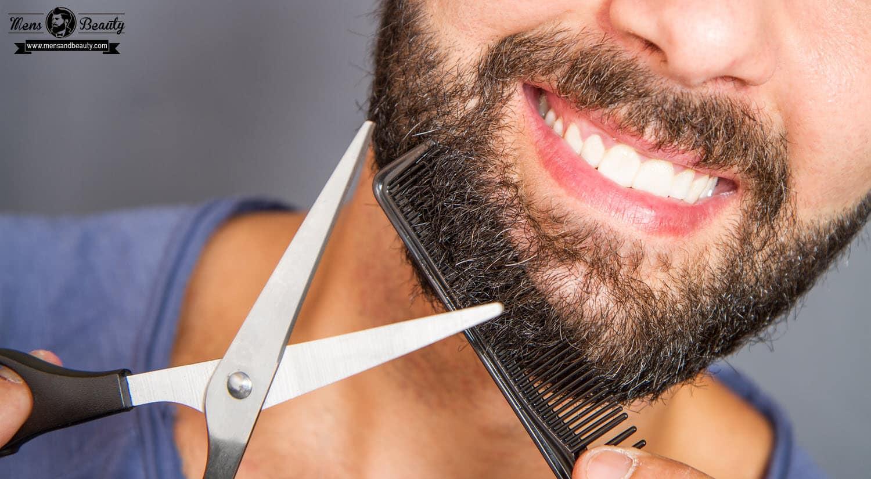 como recortar barba usa tijeras pelos sobrantes