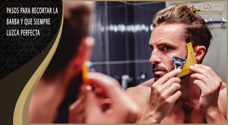 como recortar barba