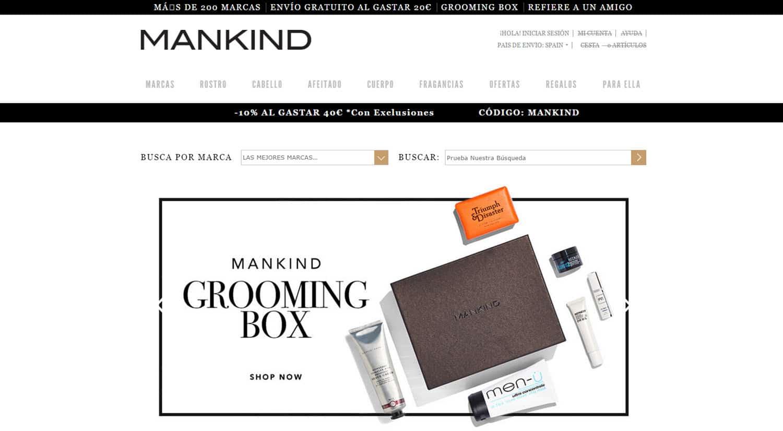 mejores tiendas online comprar productos para hombres mankind