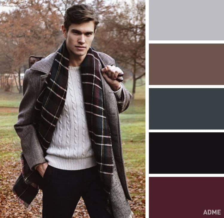 como combinar colores ropa hombre marron oscuro gris negro