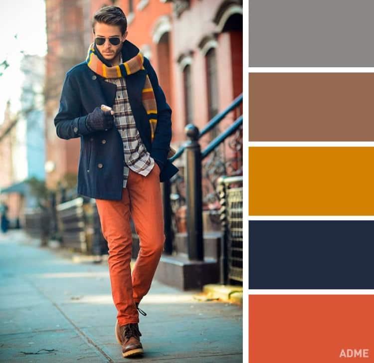 Combinaci n de colores 40 maneras de combinar colores de ropa - Pared naranja combina con ...