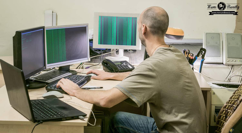 profesiones oficios motivan hombres informatico