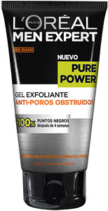 mejor crema hidratante hombre loreal paris men expert gel exfoliante anti poros obstruidos pure power