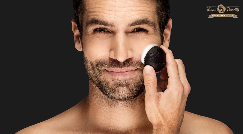rutina belleza cuidado facial hombre productos cuidar cutis en casa cepillo limpiador antiedad luna go men