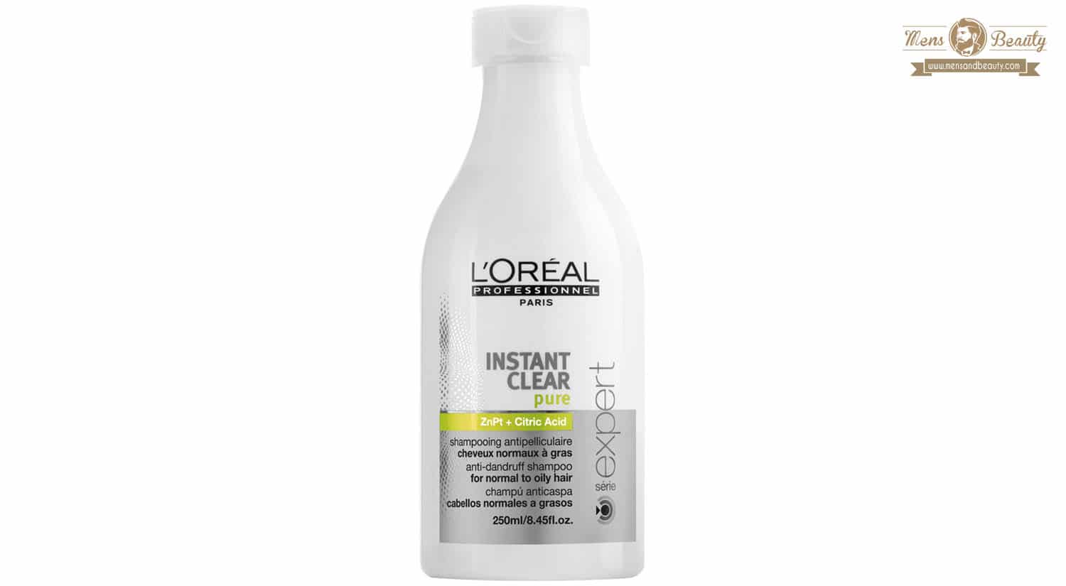 mejor champu anticaspa instant clear pure loreal men expert