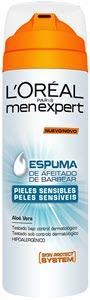 mejor gel espuma crema de afeitar hombre loreal paris men expert espuma hydra sensitive piles sensibles