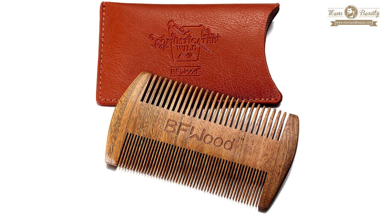 mejores productos barba bigote hombre peine bfwood
